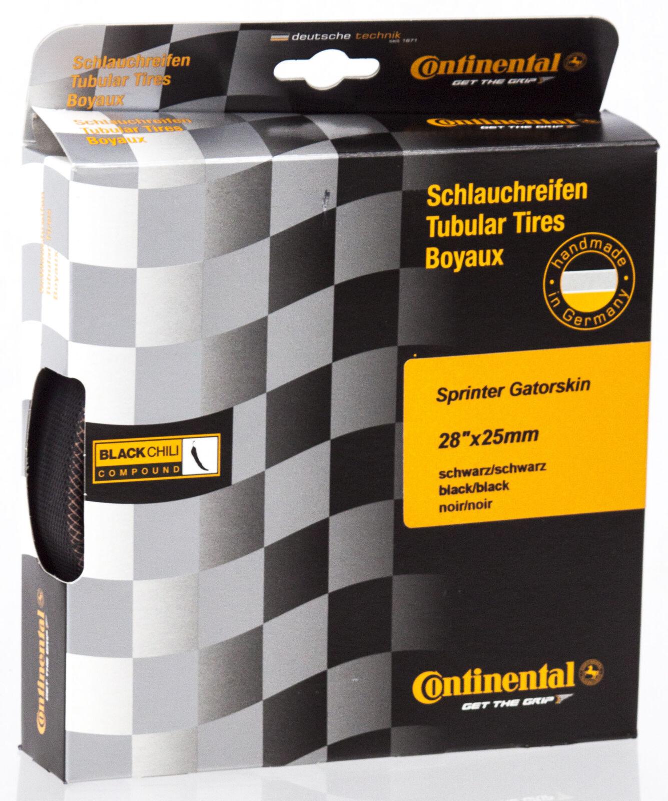 NEW 2018 Continental Sprinter Gatorskin Tubular Road Bike Tire Black 28 x 25mm