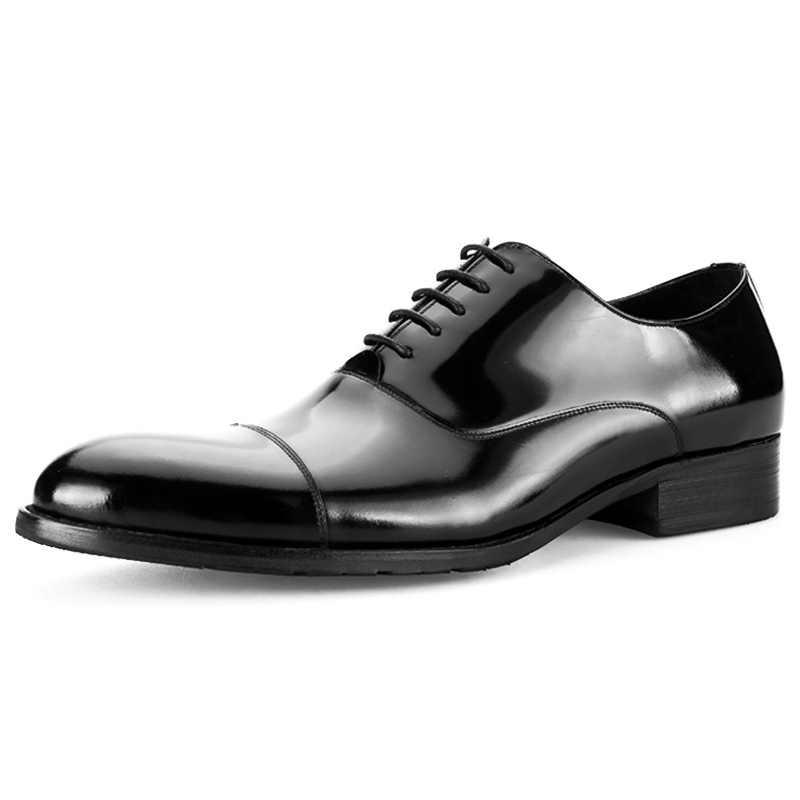2019 Yeni Varış Resmi Derby Adam Elbise Ayakkabı Erkek Rugan El Yapımı Oxfords Lüks Marka Erkekler Gelin Düğün Daireler MG81