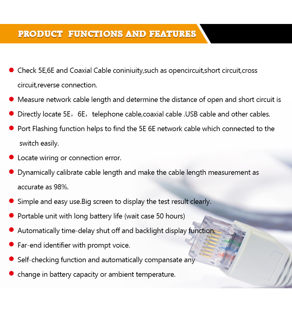 Buy Top Quality Network Cable Tester Tracker How To Find Short Circuit Nf 388 04