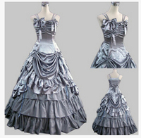customized Halloween Costumes Marie Antoinette Victorian French Formal Period Gown Reenactment Lolita Dress Costume free pp