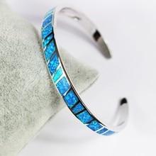 Dazzling Blue Opal Cuff Bangle