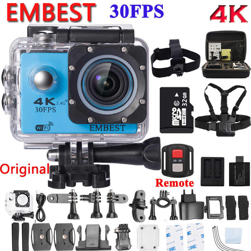 Embest F60/F60R Action Camera Ultra HD 4 K WIFI 1080 P/60fps 2.0 LCD 170D Tahan Air Helm aksi Camcorder dengan Remote Control