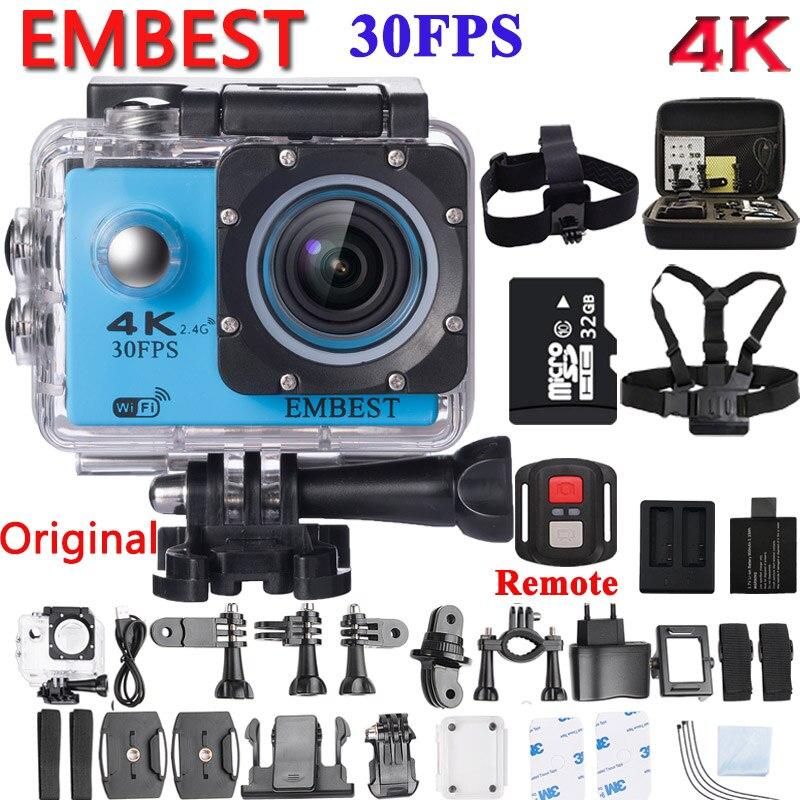 EMBEST F60 / F60R caméra d'action Ultra HD 4K WiFi 1080P/60fps 2.0 LCD 170D étanche casque Action caméscope avec télécommande