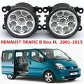 Para RENAULT TRAFIC II Caja FL 2001-2015 Car styling faros antiniebla parachoques delantero faros antiniebla LED de alta luminosidad 1 Unidades