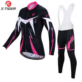 X-Tiger Pro Woman Winter Thermal Fleece Bike Jersey Set Clothing Cycling Bicycle Wear Maillot Ropa Ciclismo Invierno - DISCOUNT ITEM  45% OFF Sports & Entertainment
