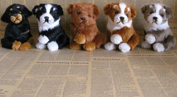 simulation sitting dog model 12x12x16cm,polyethylene resin handicraft, home decoration gift a2455