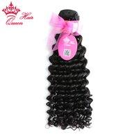 Queen Hair Products Brazilian Deep Wave Remy Hair Bundles 100 Human Hair Weave