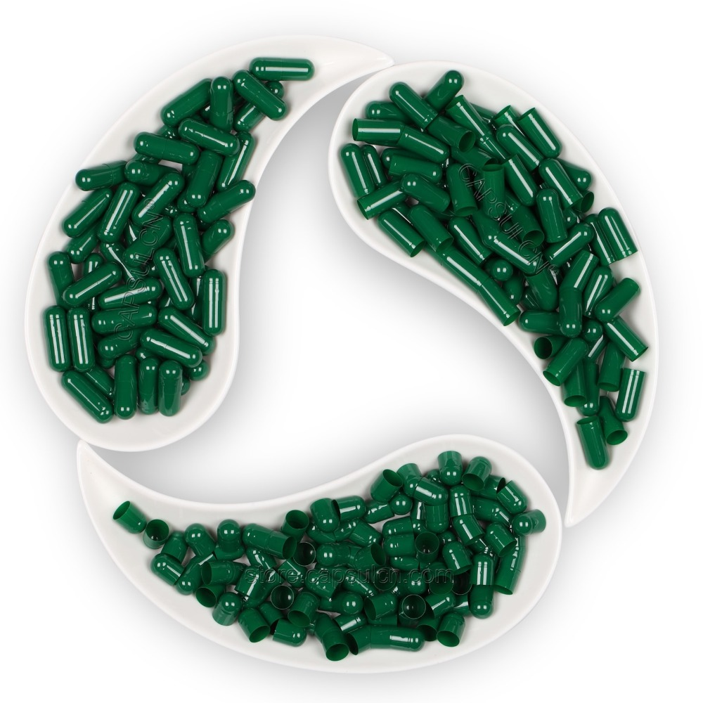 1000 Pieces / Carton /Size 000 / Empty Dark Green Gelatin Capsules,Empty Gelatin Capsule,Joined Or Separated Capsule
