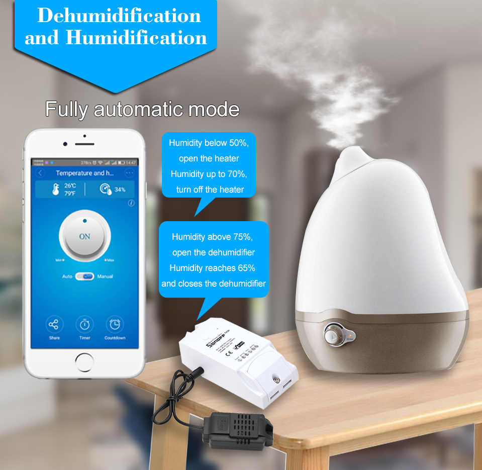 sonoff th16 th10 smart wifi switch monitoring temperature humidity smart switch home automation kit works for [ 959 x 935 Pixel ]