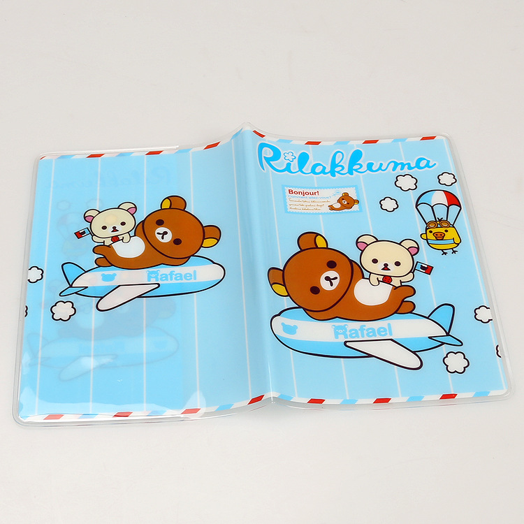 Card & Id Holders Rilakkuma Easy Bear Creative Cartoon Pvc Passport Sets Of Hong Kong And Macao Passport Manufacturers To Promote