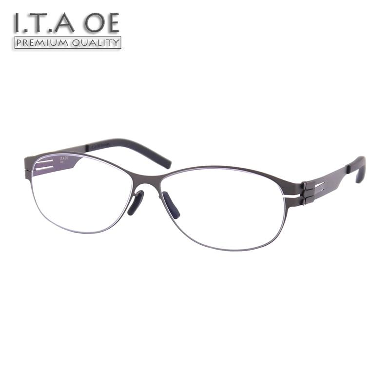 Здесь продается  ITAOE Model Ellen No Screws Screwless Stainless Steel Women Optical Prescription Glasses Eyewear Frames Spectacles 150mm  Одежда и аксессуары