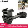 Ulanzi PT-3 тройное Крепление-адаптер для горячего башмака удлинитель микрофона для Zhiyun Smooth 4 DJI Osmo Pocket Gimbal аксессуары