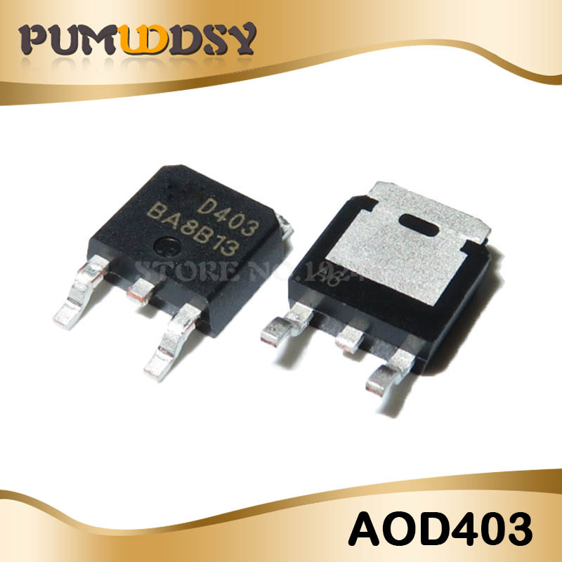 10pcs AOD403 TO-252 D403 TO252 30V 85A P Channel MOSFET Free Shipping