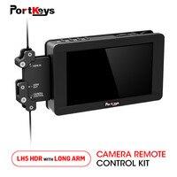 Portkeys LH5 HDR Камера монитор HDMI 1500nit Сенсорный экран монитора и длинные руки Камера контроллер комплект для sony MILC комплект