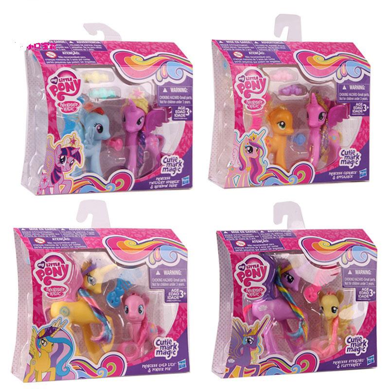My Little Pony Crystal Princess Set Pony Series Fluttershy Pinkie Pie A2004 Girl Toys
