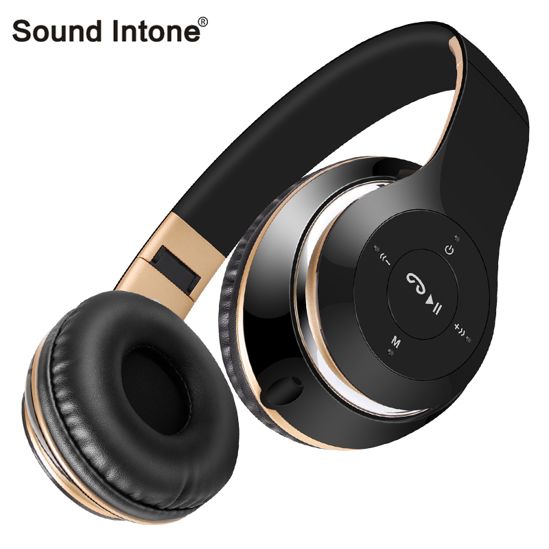 Sound Intone BT-09 Bluetooth Headphones Wireless with Mic Support TF Card FM Radio Stereo Headset For iPhone Samsung Sony Xiaomi