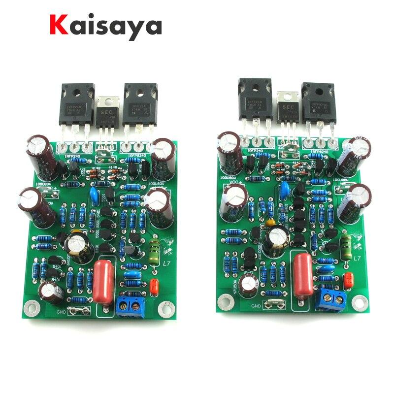 2pcs New Class AB MOSFET IRFP240  IRFP9240 L7 Audio HIFI Power Amplifier DUAL-CHANNEL 300W To 350WX2 Amplifier Board
