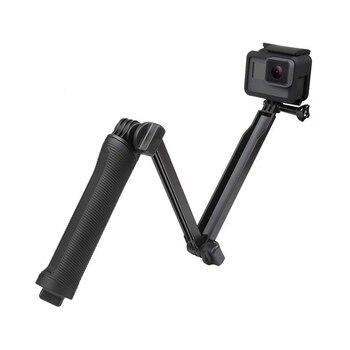 Soporte trípode palo Selfie monópode impermeable 3 vías para GoPro Hero 7 6 5 4 sesión para Yi 4K Sjcam Eken para ir Pro accesorio