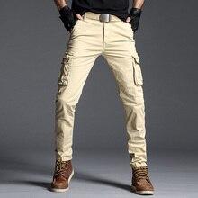 Men's Cargo Pants Casual Loose Military Tactical Pants Multi-pocket Khaki Overall Sporting Male Long Trousers Plus Size Fashions цена в Москве и Питере