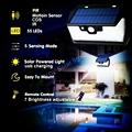 55 LED 900lm Солнечный свет дистанционное управление радар смарт 3 боковое освещение Солнечный датчик движения лампы cam Уличный настенный светил...