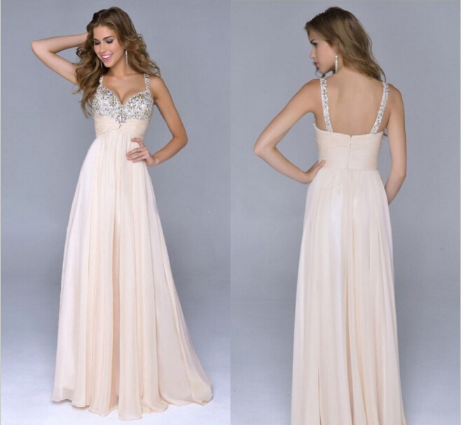 Pretty Cheap Chiffon A Line Coral Peach Purple Champagne Spaghetti