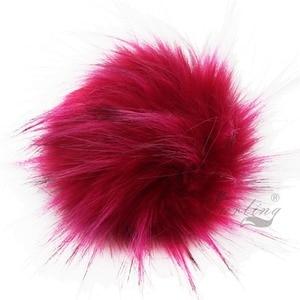 Image 2 - Furling TỰ LÀM 12 PCS Faux Lông Gấu Trúc Giả 11 CM Fluffy Pom Pom Bóng cho Hat Beanie Phụ Kiện Phụ Nữ Keychain Tay túi Quyến Rũ