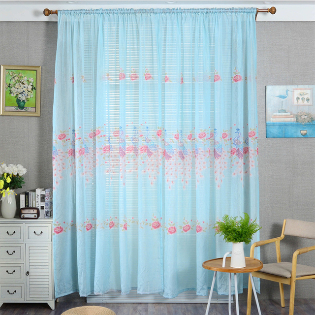 Superieur Ouneed Luxury Polyester Peacock Curtains Kitchen 100x200cm Curtains For  Living Room Window Treatments Panel Draperies