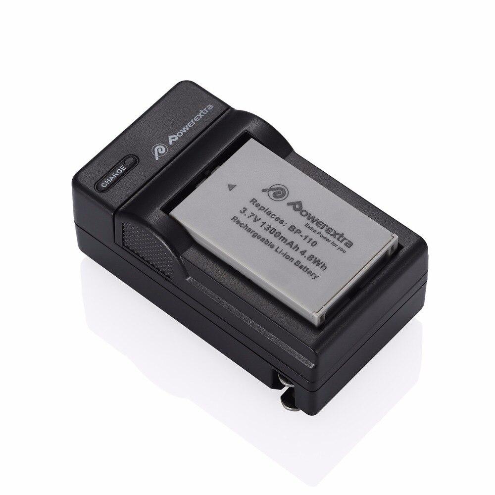 ᐃ2 pcs Powerextra BP110 BP-110 Li-ion 3.7 v Batterie + Chargeur