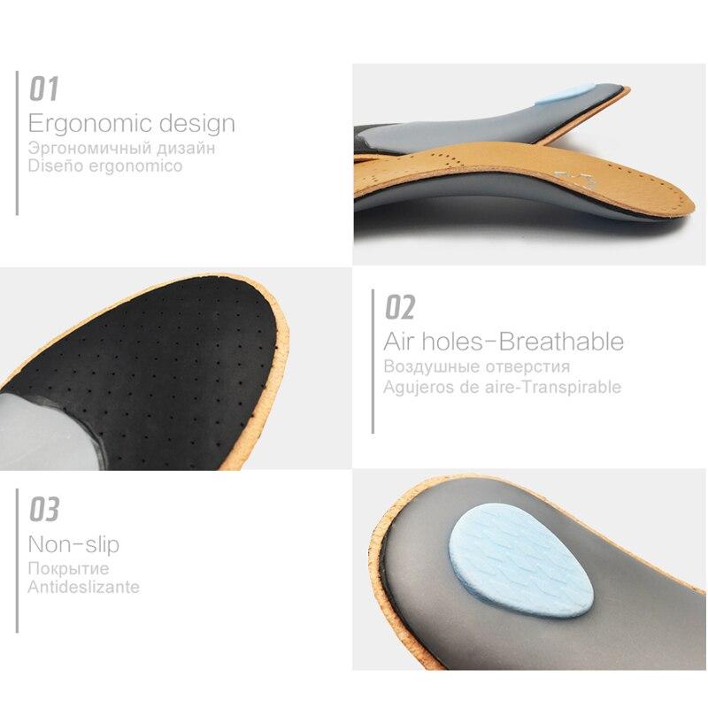 Unisex Prim Deri Ortopedik Düz Ayak Ayakkabı Tabanlık Yüksek Arch - Ayakkabı Aksesuarları - Fotoğraf 3