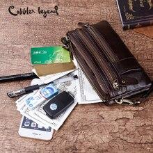 Sapateiro lenda pequeno couro genuíno crossbody saco do mensageiro bolsas de marca feminina multi bolso saco do telefone wristlet embreagem