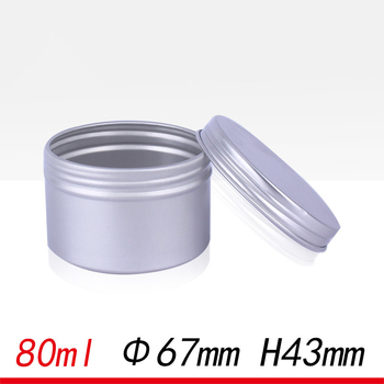 50pcs 80ml soap tin 80g tin box packaging candle jars with lid tin cosmetic jar screw lid 68*42mm coffee storage jars aluminum