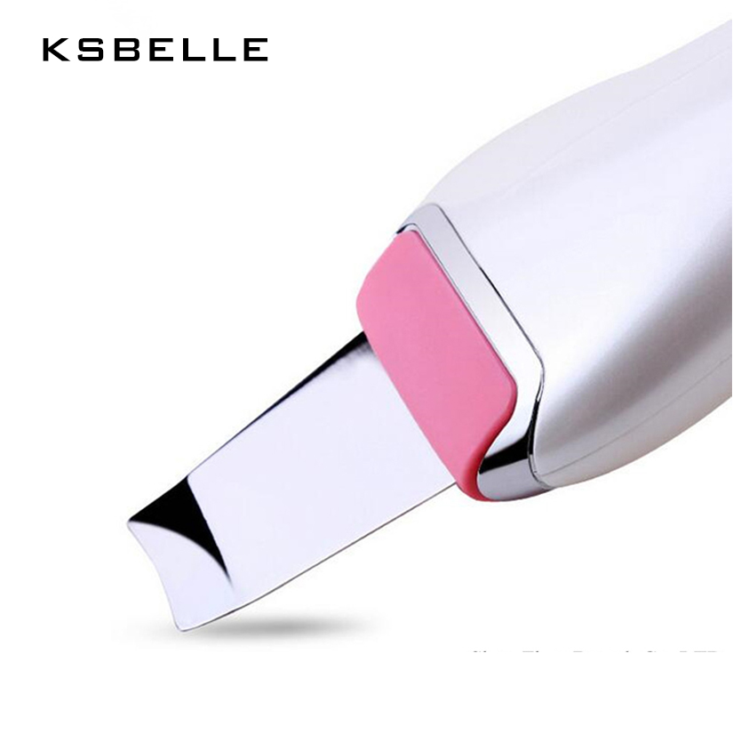 High quality Home Use Facial deeply cleansing Ultrasonic skin scrubber rechargeable skin peeling exfoliator acne remover high quality precision skin analyzer digital lcd display facial body skin moisture oil tester meter analysis face care tool