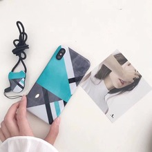 Fresh Color Block Soft Ultra Thin TPU Mobile Phone Cases For IPhoneX 6 6S 6Plus Glossy