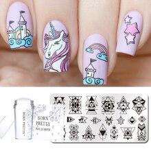3 Pcs Nail Stamping Set Rectangle