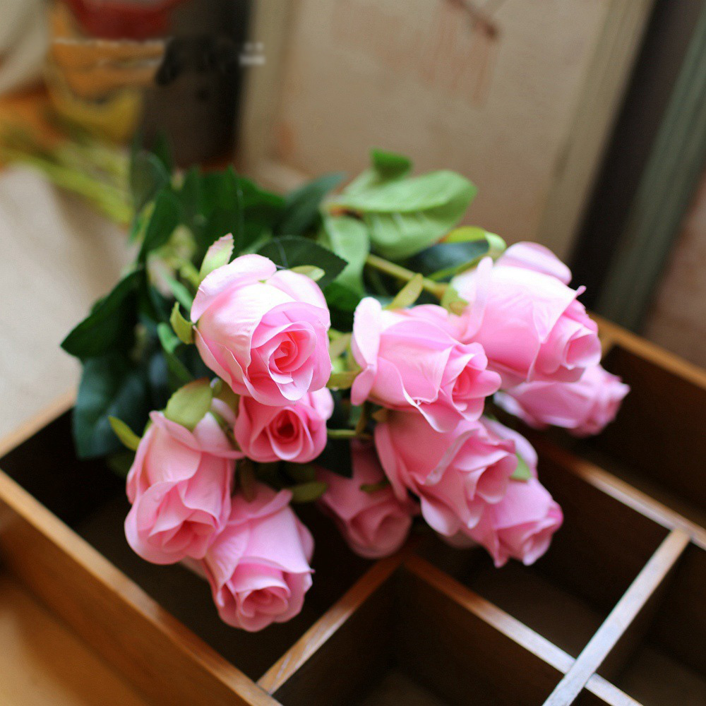 5pcs artificial rose fake flower beautiful silk flower wedding 5pcs artificial rose fake flower beautiful silk flower wedding flower arrangement home decoration 6 colours in artificial dried flowers from home garden izmirmasajfo