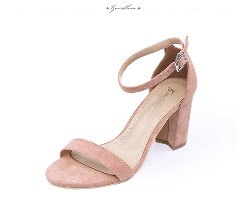 HTB1VwwkzCtYBeNjSspkq6zU8VXak GENSHUO 2019 Ankle Strap Heels Women Sandals Summer Shoes Women Open Toe Chunky High Heels Party Dress Sandals Big Size 42