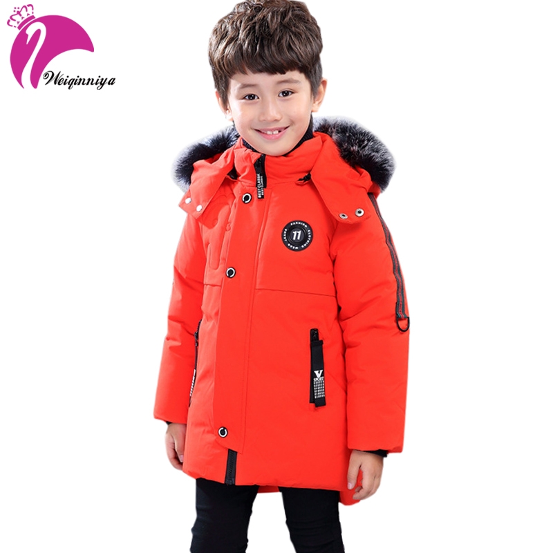 Boys Winter Coat Padded Jacket Outerwear For 4-11T Fashion Hooded Thick Warm Children Parkas Overcoat High Quality 2017 New children winter coats jacket baby boys warm outerwear thickening outdoors kids snow proof coat parkas cotton padded clothes