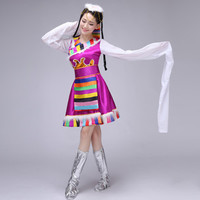 ZZB021 The New Tibetan Dance Tibetan Clothing Costumes Ethnic Dance Clothing Female Adult traditional Tibetan dance costumes
