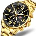 Relogio Masculino модные часы мужские золотые и черные мужские s часы лучший бренд Роскошные спортивные часы 2019 Reloj Hombre водонепроницаемые