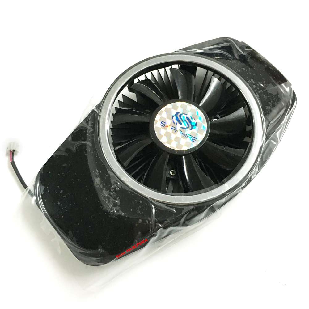 vga video card SAPPHIRE HD5670 HD5750 hd 6750 computer GPU cooler radiator cooling as replacement 2pcs computer vga gpu cooler fans dual rx580 graphics card fan for asus dual rx580 4g 8g asic bitcoin miner video cards cooling