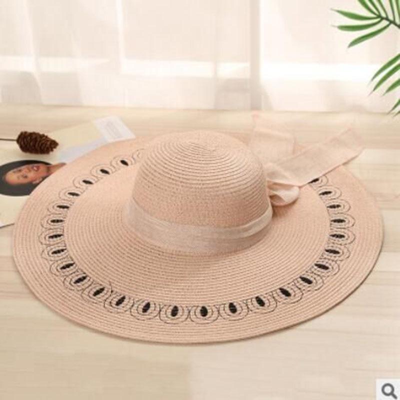 MAERSHEI Topi Korea Musim Panas Wanita Pantai Pantai Matahari Topi Daddy  Padat Tabir Surya pelindung Matahari 6bdc610c69
