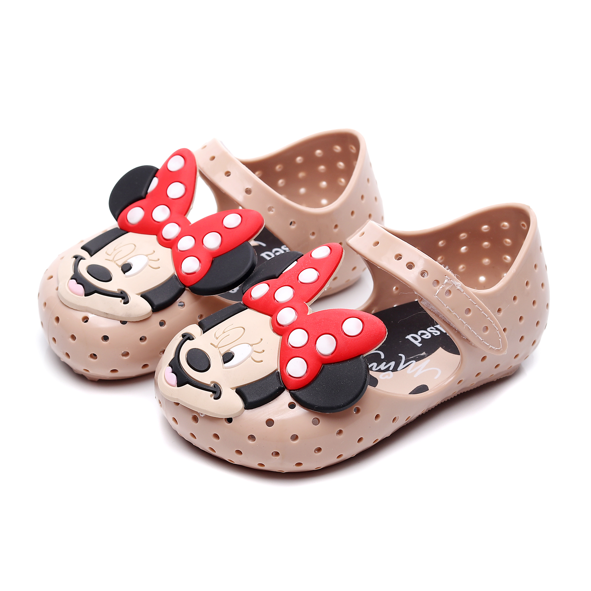 2019 New Mini Melissa Mickey Minnie Kids Shoes Girls Beach Sandals Soft Bottom Melissa Jelly Shoes High Quality