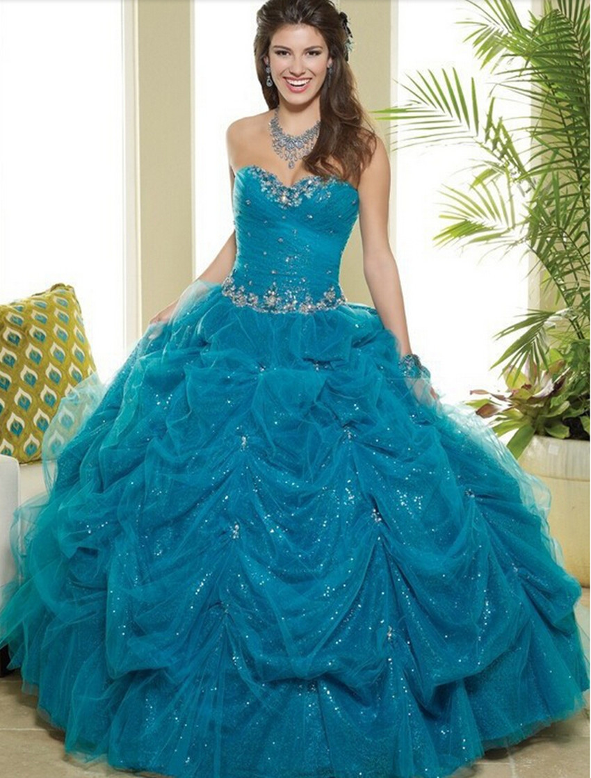 2016 Quinceanera Dresses Sweet 16 Dresses Sparkly Quinceanera Dress ...