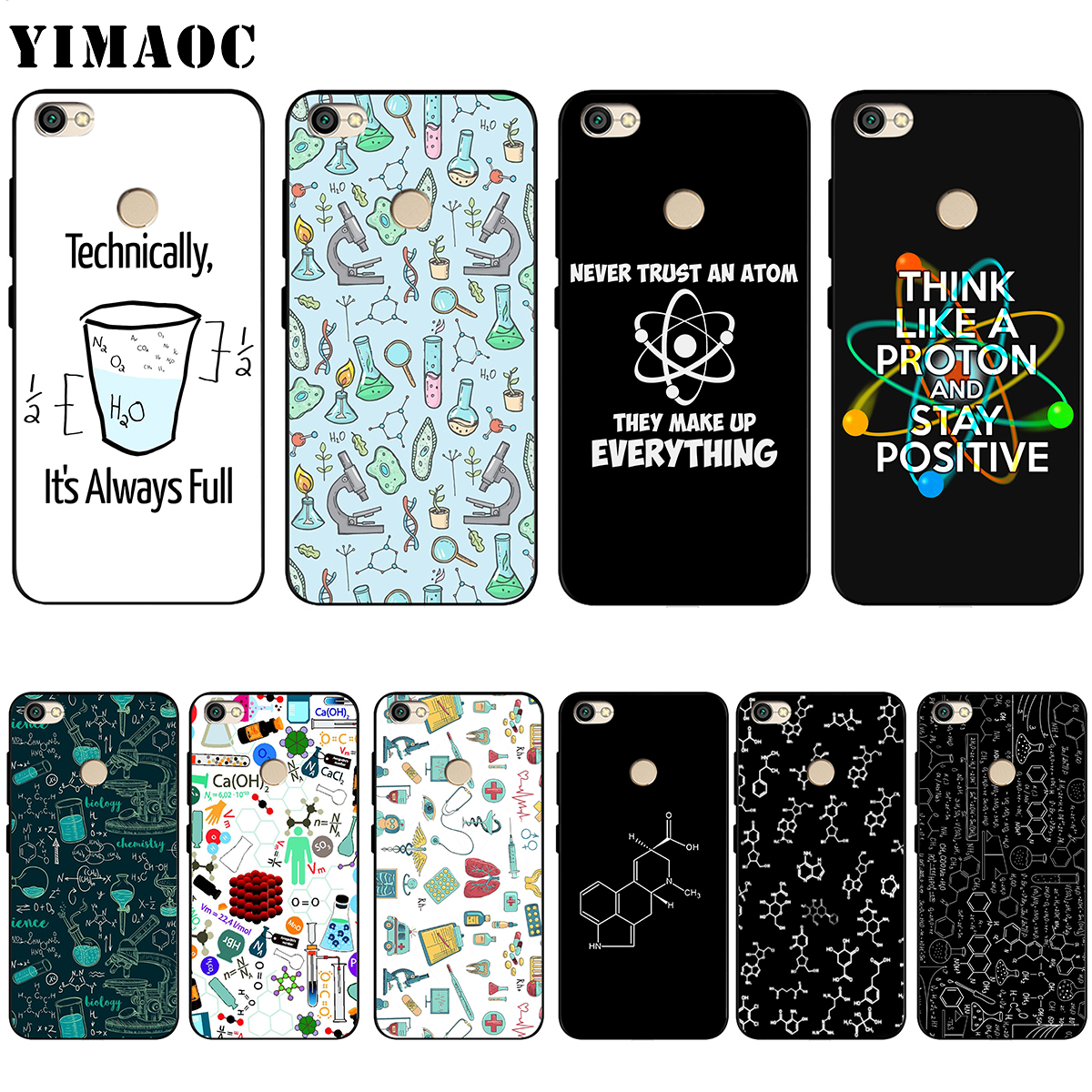 YIMAOC Silicone-Case Chemistry Xiaomi Redmi Note-4 Prime-Plus for Note-4/4x4a/5/.. And