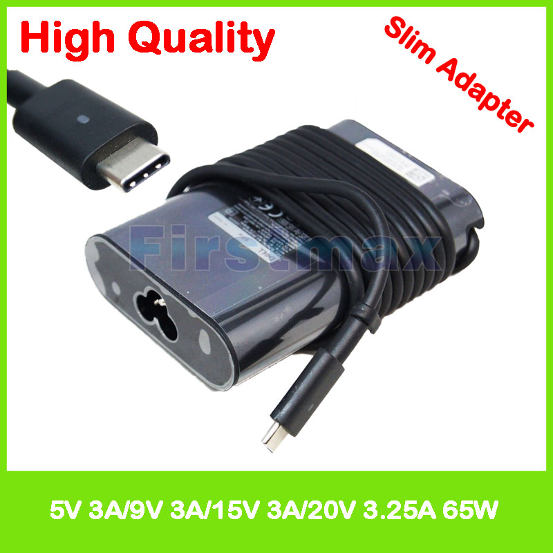 65W 5V 3A 9V 3A 15V 3A 20V 3.25A USB-C type C DA65NM170 0JYJNW ADP-65TD BA laptop AC adapter charger for Dell Chromebook 13 3380 19 5v 9 23a laptop charger adp 180mb f fa180pm111 ac power adapter for asus rog g750 g751 g750j g751j g750jm g751jm g750js