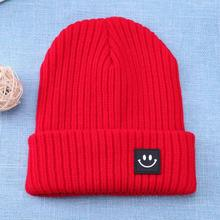 Baby's Knitted Warm Hat with Smile