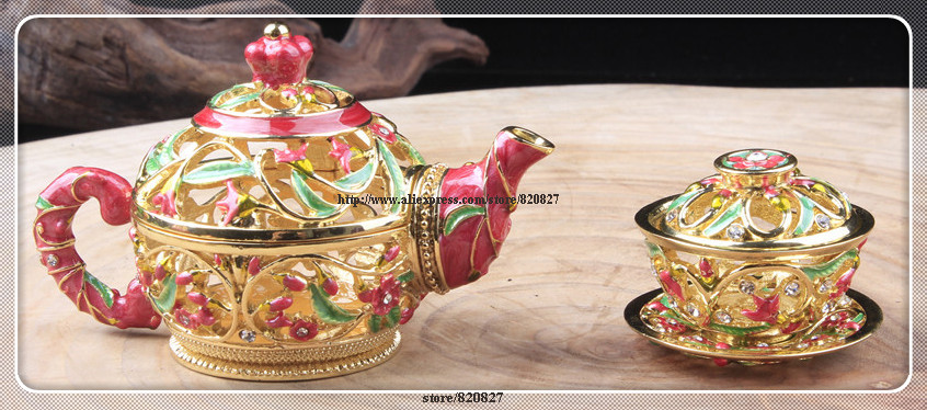 Kettle Metal Jewelry Gift Box Kettle Trinket Box Tea Pot Kettle Watering Can Trinket Ring Box TeacupJewelry Box ( Set of 2) часы elysee 33033n 33032n 33034n