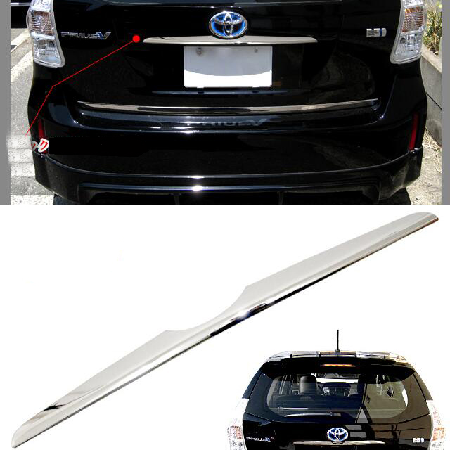 SUS304 Stainless Steel Rear Handle Hatchback Cover Gainish Trim Car Styling Cover Accessories For Toyota Prius