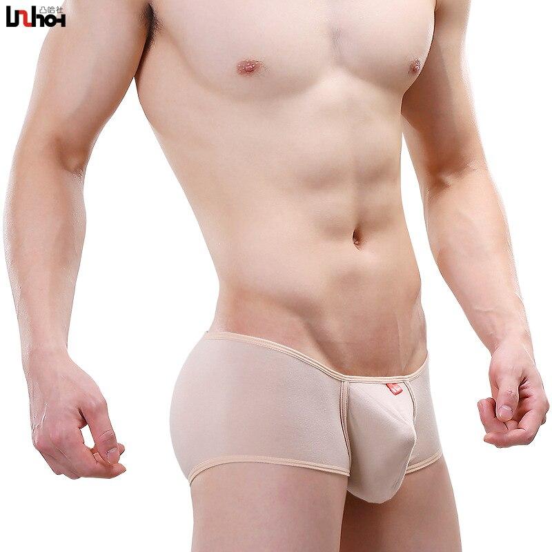 Sexy Men Underwear Lycra Cotton Boxers Shorts Man Solid Soft Mid-waist U Convex Pouch Underpants Cuecas Calzoncillos De Boxer