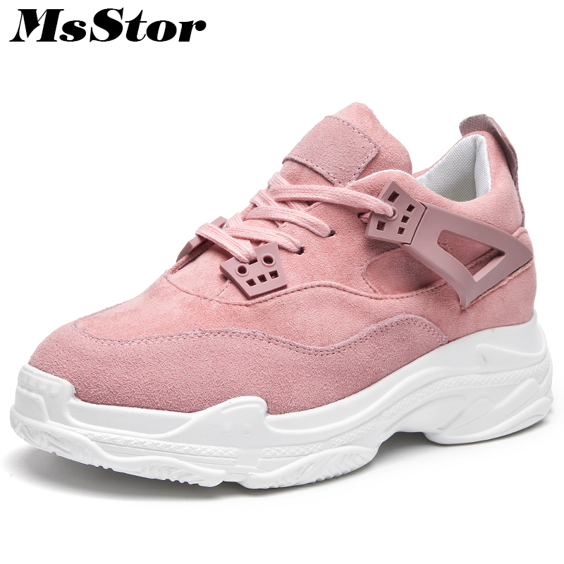 MsStor Round Toe Mixed Colors Women Flats Casual Fashion Women Flat Shoes 2018 Spring Lace Up Sneakers Women Flats Brand Shoes instantarts casual women s flats shoes emoji face puzzle pattern ladies lace up sneakers female lightweight mess fashion flats
